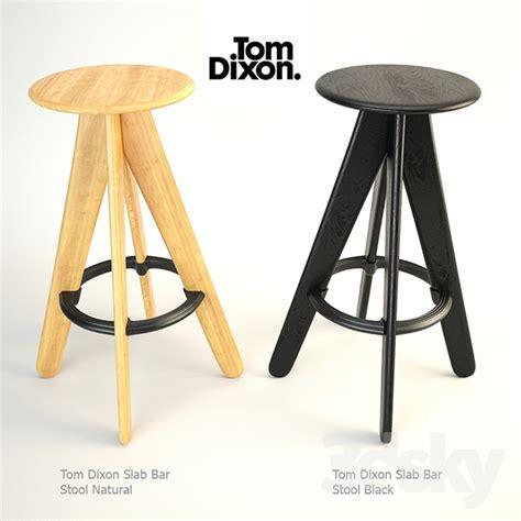 3d models Chair  Tom Dixon Slab Bar Stool Natural