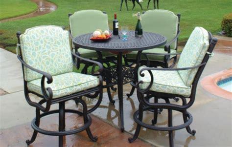 5 bar height patio set meadow decor athena 5 aluminum bar height patio set