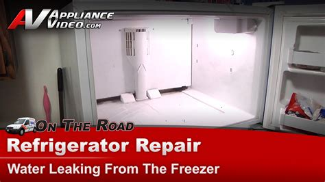 kenmore  refrigerator repair water leaking