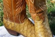 Vintage LUCCHESE CLASSICS ANTEATER Skin Exotic Cowboy ...