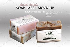 soap label mock up horizontal templates creative market With create custom soap labels