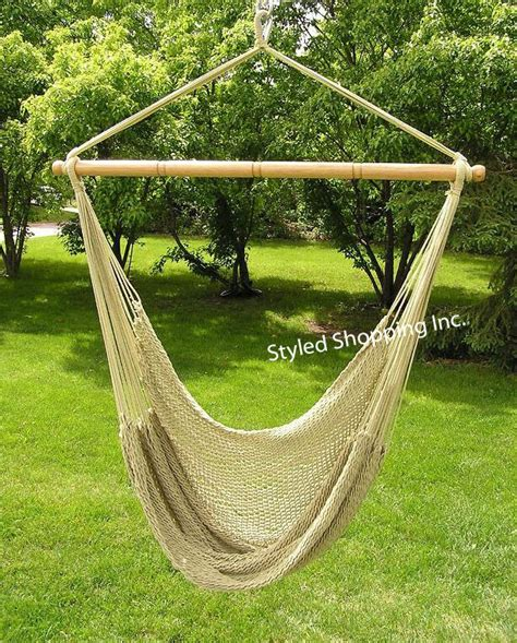 Soft Hammock by Deluxe Large Soft Poly Rope Hammock Swing Chair