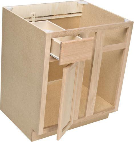 unfinished blind corner base cabinet quality one 36 quot x 34 1 2 quot unfinished oak blind corner