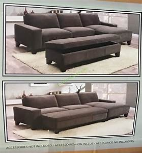 costco 905674 fabric sectional with storage ottoman box With costco sectional sofa with storage ottoman