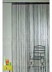 Rideau Fil Noir : rideau fils spaghetti noir paille bordeaux turquoise beige anis rouge ~ Teatrodelosmanantiales.com Idées de Décoration