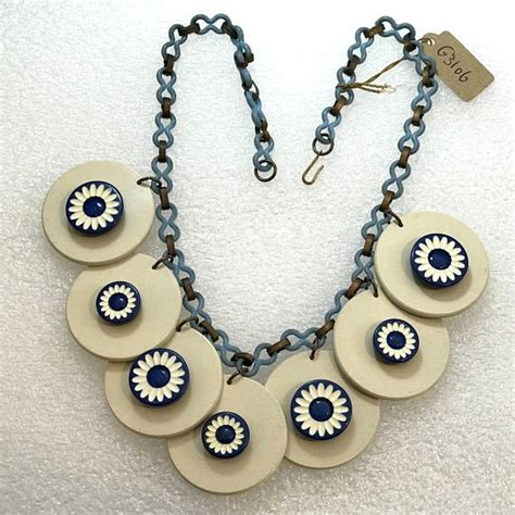 White Vintage Flower Necklace 4728 best vintage celluloid jewelry images on