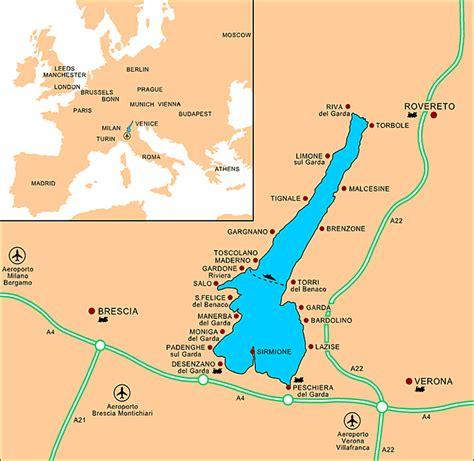 mga property  lake garda map  lake garda