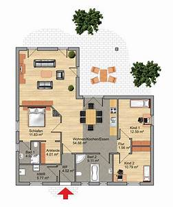 Bungalow Grundriss 4 Zimmer : construct haus bungalows ~ Pilothousefishingboats.com Haus und Dekorationen