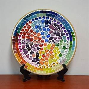 250G Mixed Color Irregular Mosaic Tiles Crafts Glass