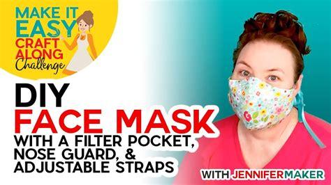 diy face mask  filter pocket    cricut