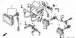 Honda Atv 2002 Oem Parts Diagram For Headlight