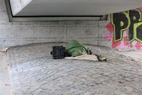 homeless sleeping   bridge  hamburg ccphoto