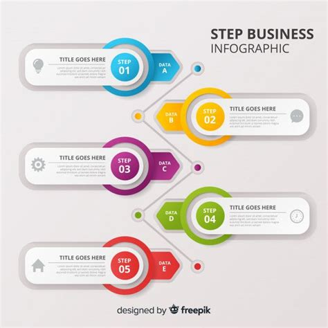 step business infographic  vector powerpoint