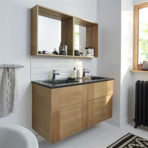 vasque salle de bain castorama castorama meuble de salle de bains fr 234 ne 120 cm essential