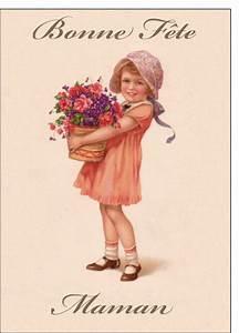 carte ancienne fte des mres envoyer cette carte bonne With affiche chambre bébé avec bouquet de fleurs envoyer
