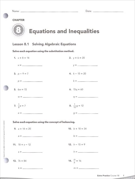 Math In Focus Course 1 Grade 6 Extra Practice B (050941) Details  Rainbow Resource Center, Inc