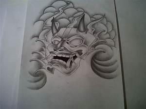 Japanese Mask Tattoo Designs Hannyah Mask Tattoo Design By ...