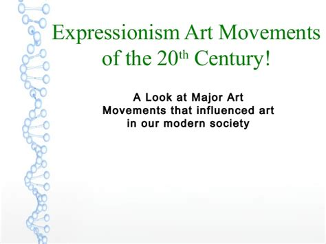 expressionism movements of the 20th century