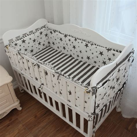 white crib bumper 2017 new 5 pcs set white crib liner cotton crib