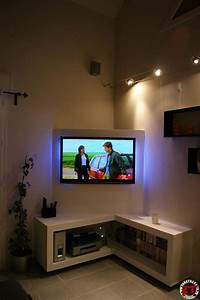 tuto creation d39un meuble tv en placo With meuble tv en coin design