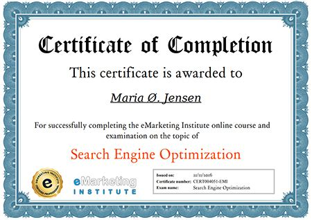 Seo Certification by Free Seo Certification Course Emarketing Institute