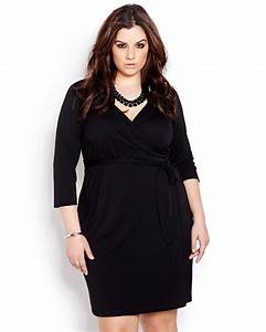 michel studio 3 4 sleeve wrap dress addition elle With robe cache coeur manche longue