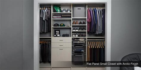 Small Closet Design & Storage   Reach in Closet Solutions