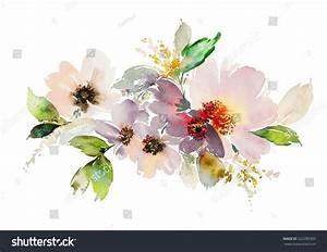 Flowers Watercolor Illustration Manual Composition Spring