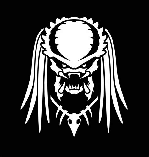 predator inspired vinyl decal alien avp window sticker die