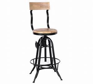 Chaise Bar Industriel : tabouret de bar industriel r glable avec dossier 39 atelier ~ Farleysfitness.com Idées de Décoration