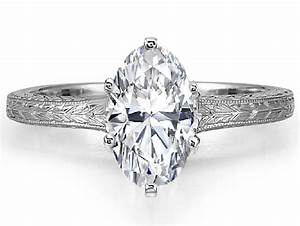engagement ring oval diamond solitaire wheat engraved With oval diamond wedding ring