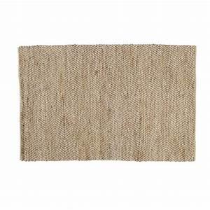 Tapis En Toile De Jute : tapis en coton et jute 160 x 230 cm barcelone maisons du ~ Teatrodelosmanantiales.com Idées de Décoration