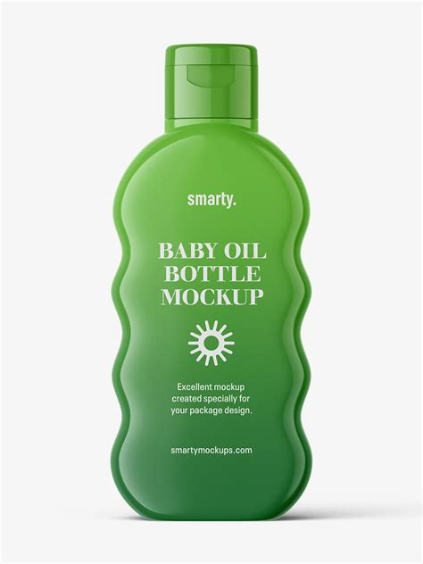 Collection of free beer bottle mockup psd files. Baby oil bottle mockup / glossy - Smarty Mockups
