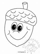 Acorn Coloring Autumn Fall Coloringpage Eu Crafts Halloween Activities Toddlers Deti Jeseň Pre Printable Remeslá Leaves Printables Preschool Steh Vyšívanie sketch template