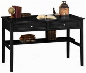 black writing desk with drawers kit4en