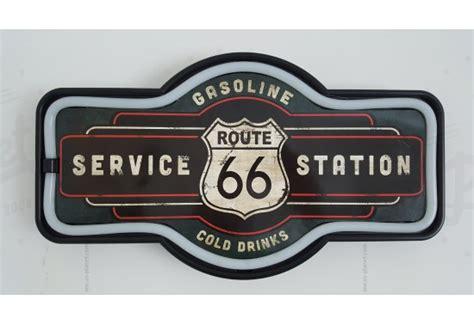 Enseigne Murale à Led Route 66 Station