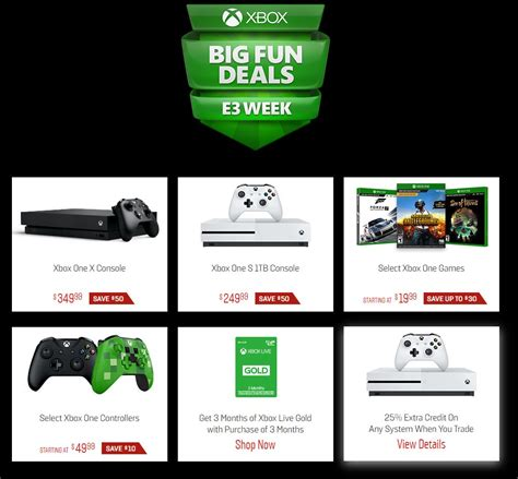 xbox one price e3 2018 retailers dropping xbox one x prices ahead of potential price cut ign