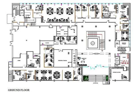 Office design CAD plan - CADblocksfree -CAD blocks free