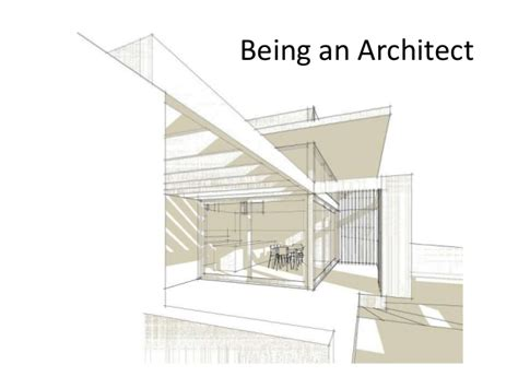 being an architect being an architect