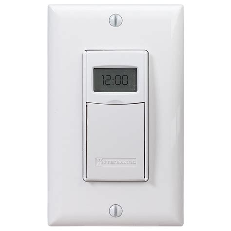 intermatic 7 day indoor in wall astronomic digital timer white st01k the home depot