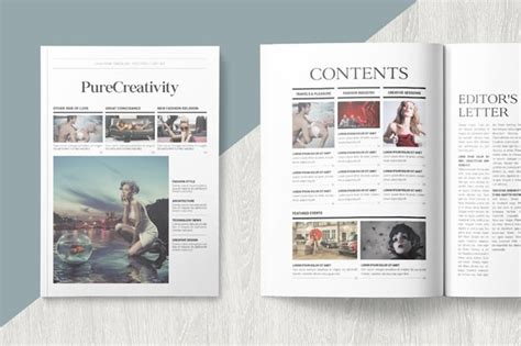 Magazine Format Template by Magazine Template By Becreative On Envato Elements