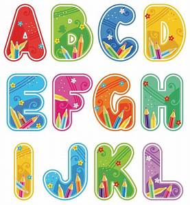 individual cut out letters playground basics With cut letters