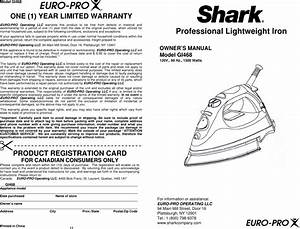Shark Gi468 Owners Manual Manualslib Makes It Easy To Find
