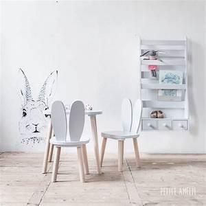 Table Et Chaise Pour Bébé : chaises et table enfant lapin gris petite am lie chaise enfants chambre bebe table et ~ Farleysfitness.com Idées de Décoration