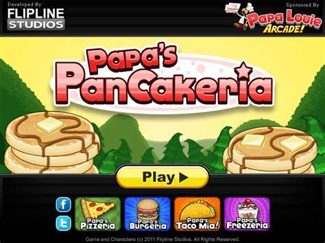 jeux de cuisine papa louie pancakeria papa 39 s pancakeria jeu gratuit com