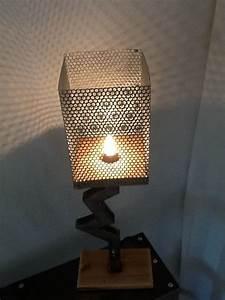 Lampe Sur Pied Industriel : lampe tube carre lampe style industriel en acier et bois ~ Melissatoandfro.com Idées de Décoration