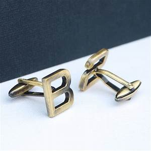 personalised modern initial letter cufflinks by With letter cufflinks