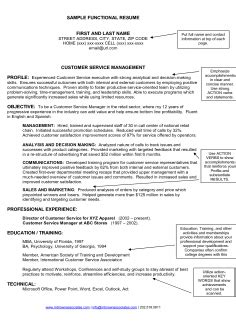 Senior Project Manager Resume Sle by Free Resume Format For Sales And Marketing Manager Sle