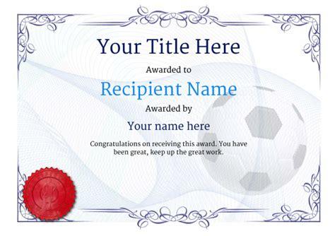 uk football certificate templates add printable