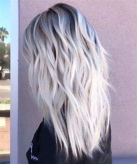 Ombré Hair Blond Polaire Balayage Blond Polaire Et Chocolat